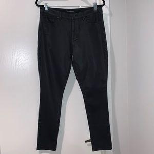 Elie Tahari Black Coated Jeans